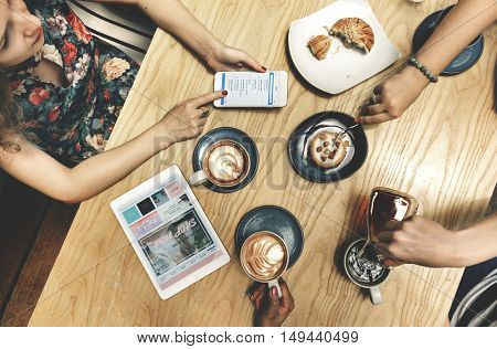 Coffee Time Friends Socialize Enjoyment Concept