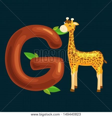 animal and letter for kids abc education in preschool.