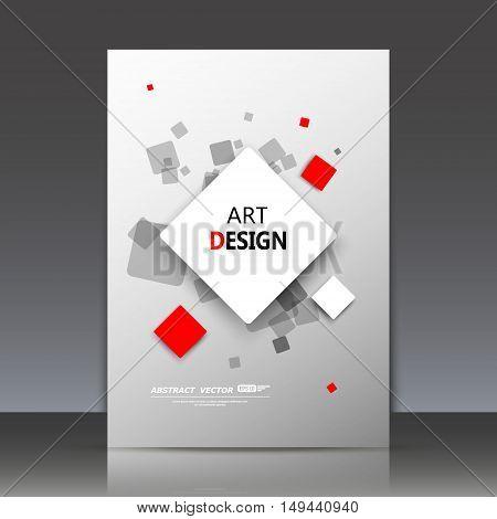 Abstract composition, geometric shapes icon, lozenge ornament, a4 brochure title sheet, rhombus logo construction backdrop, business card texture surface, fashionable fiber texture, vector