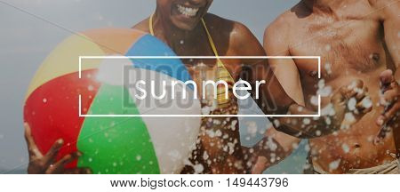 Life Summer Beach Vacation Concept