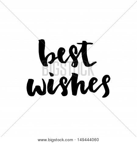 Best Wishes - Hand Drawn Holiday Lettering.