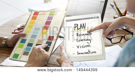 Plan Education Inspire Learn Diagram Concept
