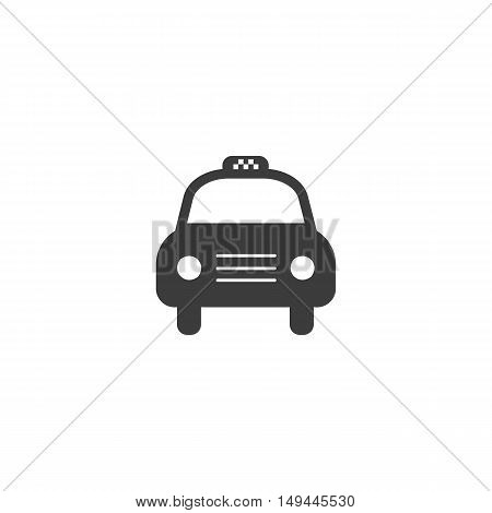 Taxi car icon. Taxi car Vector isolated on white background. Flat vector illustration in black. EPS 10
