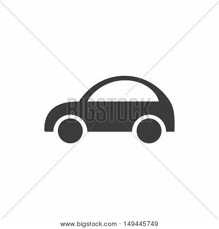 Car icon. Car Vector isolated on white background. Flat vector illustration in black. EPS 10