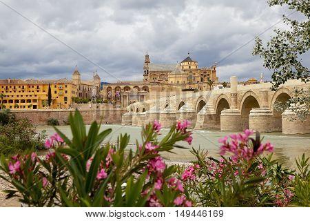 Calahorra Tower and the Roman bridge. Cordova. Spain