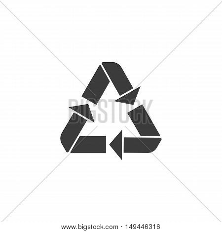 Recycle icon. Recycle Vector isolated on white background. Flat vector illustration in black. EPS 10