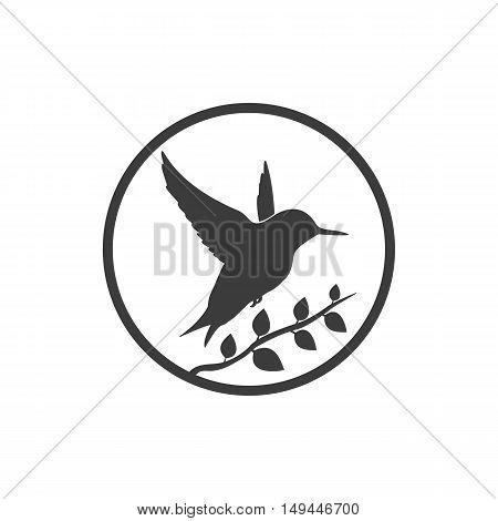 Bird icon. Bird Vector isolated on white background. Flat vector illustration in black. EPS 10