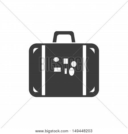 Luggage icon. Luggage Vector isolated on white background. Flat vector illustration in black. EPS 10