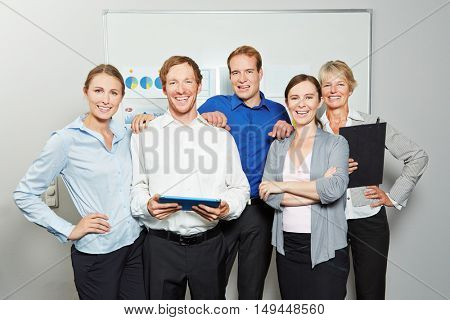 Group of successful businesspeople as business team in the office