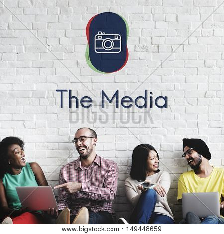 Camera Social Media Digital Graphic Concept