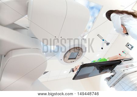 Hospital oncology scanner x-ray