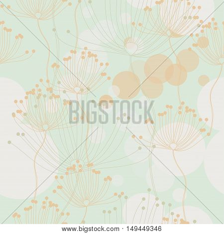 floral pattern in retro style, vector illustration