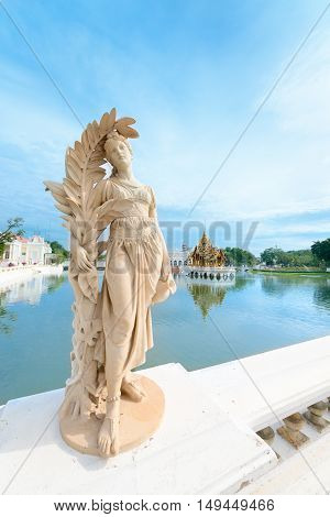 Statue In Classical Style In Royal Palace