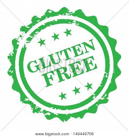 Gluten free stamp isolated on white background