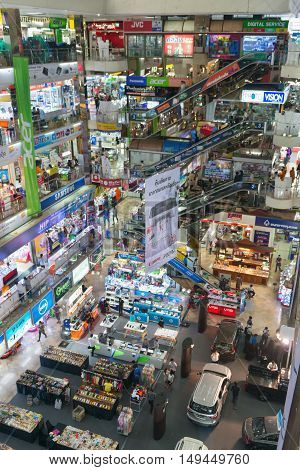 Interior Of A Major Shopping Mall In Bangkok.