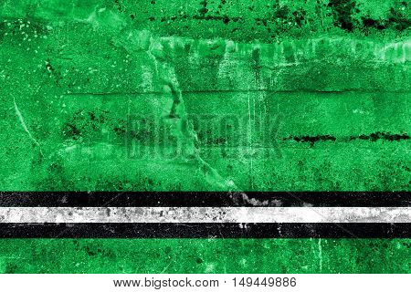 Flag Of Osipovichi, Belarus, Painted On Dirty Wall