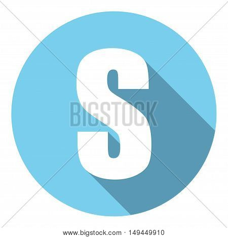 Letter S with a long shadow. Vector illustration EPS10