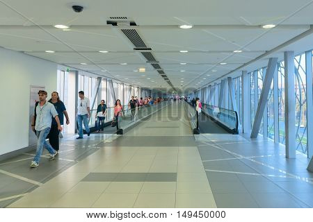 Climate Controlled Pedestrian Bridge Between Dubai Mall And The Metro Station.