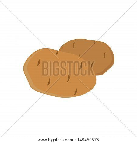 Vector illustration potatoes isolated on white background. Eco vegetable. Potato tuber