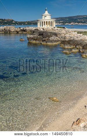 Amazing panorama around Lighthouse of St. Theodore at Argostoli, Kefalonia, Ionian islands, Greece