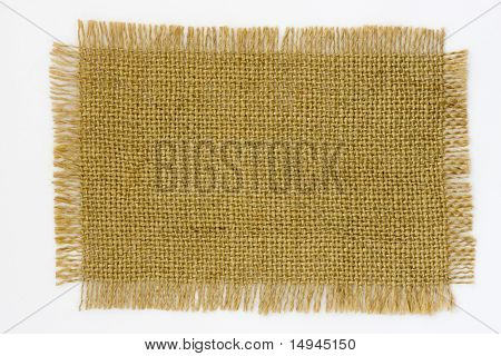 Burlap Canvas with frayed edges