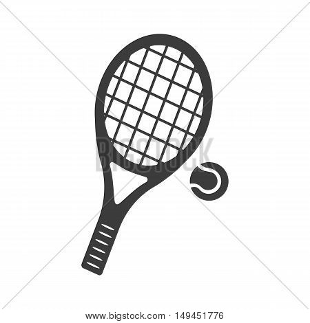 Tennis icon. Tennis Vector isolated on white background. Flat vector illustration in black. EPS 10
