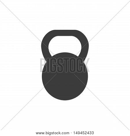 Weight icon. Weight Vector isolated on white background. Flat vector illustration in black. EPS 10