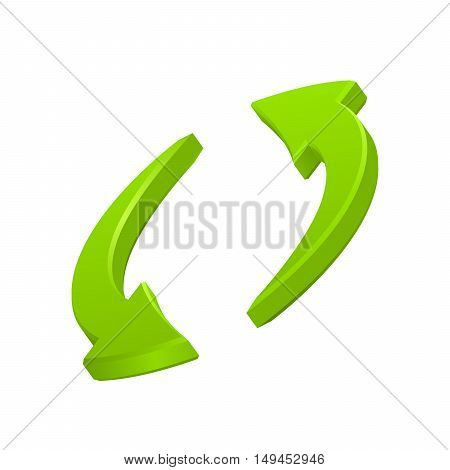 Green circular arrows icon, vector symbol eps10