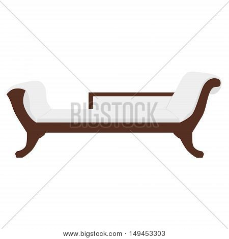 Vector illustration sofa divan or couch. Classic vintage furniture