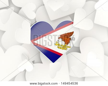 Flag Of American Samoa, Heart Shaped Stickers