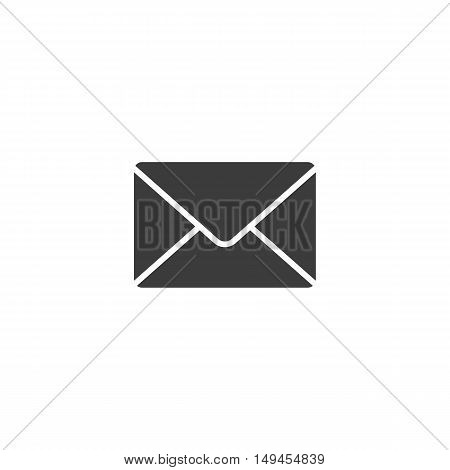 Mail icon. Mail Vector isolated on white background. Flat vector illustration in black. EPS 10
