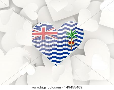 Flag Of British Indian Ocean Territory, Heart Shaped Stickers