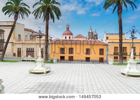 square of Ayntamento in La Orotava, Tenerife village, Spain