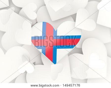 Flag Of Faroe Islands, Heart Shaped Stickers