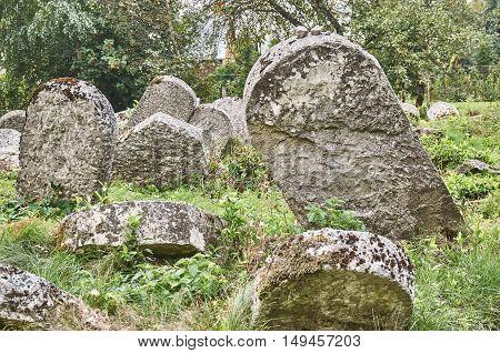 Gravestones In The Jewish Cemetery