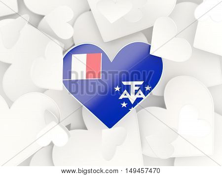 Flag Of French Southern Territories, Heart Shaped Stickers