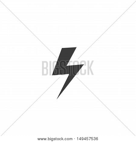 Lightning icon. Lightning Vector isolated on white background. Flat vector illustration in black. EPS 10