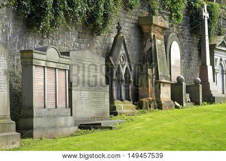 Old Graveyard In Glasgow, Scotland, Uk