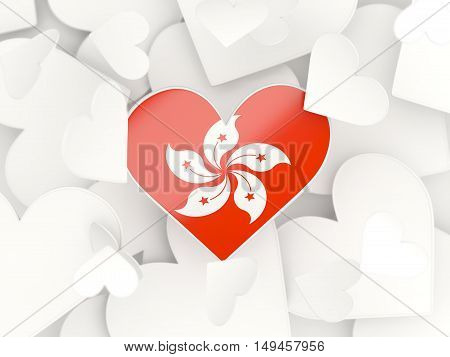 Flag Of Hong Kong, Heart Shaped Stickers