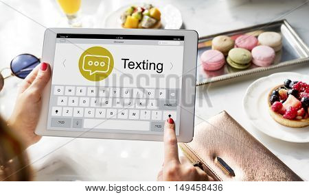 Messenger Chatting Social Networking Concept