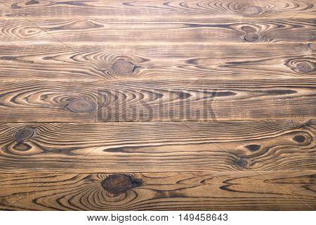 Brown aged natural wood texture close look