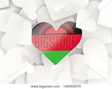 Flag Of Malawi, Heart Shaped Stickers