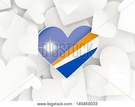 Flag Of Marshall Islands, Heart Shaped Stickers
