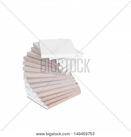 Stack of book isolated on the white background with clipping path