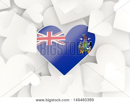 Flag Of South Georgia And The South Sandwich Islands, Heart Shaped Stickers