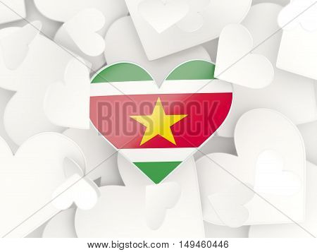 Flag Of Suriname, Heart Shaped Stickers