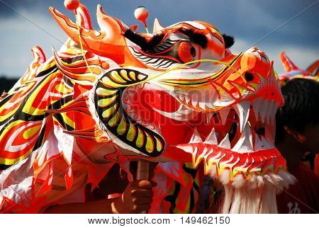 Chinese New Year Vibrant Dancing Dragon Head