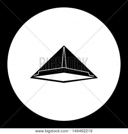Black Isolated Simple Paper Hat Icon Eps10