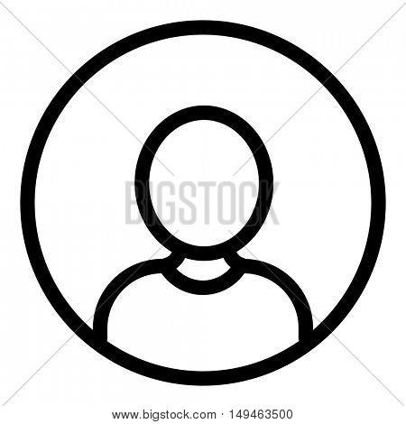 Portrait icon on white