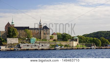 Old Akershus Fortress in center Oslo (Norway).